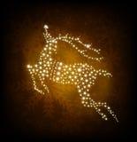 Merry Christmas shine deer. Vector illustration Royalty Free Stock Photos
