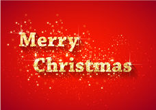Merry Christmas shiny Lettering Composition Royalty Free Stock Image