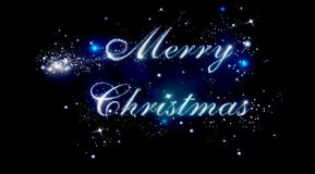 Merry Christmas shiny letters royalty free stock images