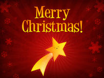 Merry Christmas shooting star Royalty Free Stock Photo