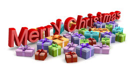 Merry Christmas shopping concept Royalty Free Stock Images