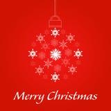 Merry Christmas Showflake. Christmas ball Stock Photo