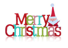 Merry Christmas Sign. A colorful merry christmas sign over white background Stock Photo