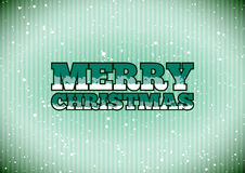 Merry Christmas sign. Green cold Merry Christmas sign with snowflakes stock illustration