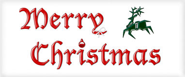 Merry Christmas Sign Stock Photo