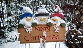 Merry christmas sign Royalty Free Stock Photo