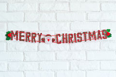 Merry Christmas sign hanging Royalty Free Stock Image