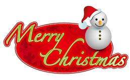 Merry christmas sign illustration  Royalty Free Stock Photography