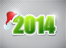 2014 merry christmas sign illustration design. Over a grey background vector illustration