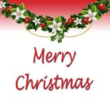 Merry Christmas ornaments and Sign Royalty Free Stock Image