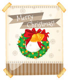 Merry Christmas sign with ornaments Stock Photo