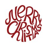 Merry Christmas sign. Royalty Free Stock Photos