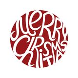 Merry Christmas sign. Stock Images