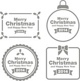 Merry Christmas 2014 signs. Set of different merry Christmas 2014 signs isolated on white background royalty free illustration