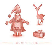 Christmas sketches  Royalty Free Stock Photo