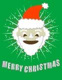 Merry Christmas! Smiling Santa!  / clip art Stock Image