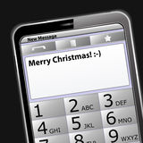 Merry Christmas SMS Royalty Free Stock Photo