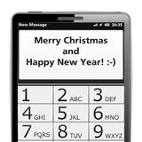 Merry Christmas SMS Stock Photo