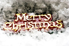 Merry Christmas on snow Royalty Free Stock Image