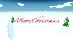 Merry Christmas snow stock video