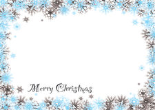 Merry christmas snow blind Royalty Free Stock Photos