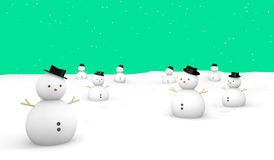 Merry Christmas Snow Green ground Stock Image