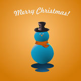 Merry Christmas Snow Man Greeting Card Stock Image