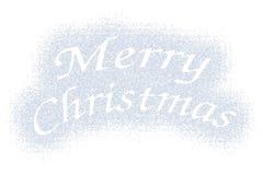 Merry Christmas snow mark on white Royalty Free Stock Photos