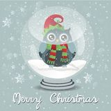 Merry Christmas. Snowball Royalty Free Stock Photography