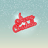 Merry Christmas on Snowfall Background Royalty Free Stock Images