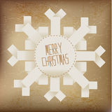 Merry christmas snowflake Stock Images