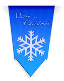 Merry christmas snowflake banner illustration Stock Images