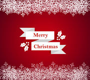 Merry Christmas snowflake border illustration Stock Images