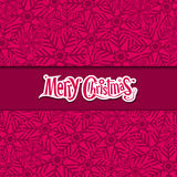 Merry Christmas Snowflake greeting card Stock Photos