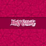 Merry Christmas Snowflake greeting card Stock Photos
