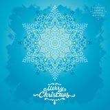 MERRY CHRISTMAS snowflake Royalty Free Stock Image