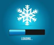 Merry christmas snowflake loading bar Royalty Free Stock Photo