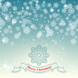 Merry Christmas snowflake retro background vector Royalty Free Stock Images