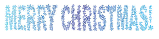 Merry christmas from snowflakes Royalty Free Stock Images