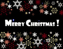 Merry Christmas snowflakes card Royalty Free Stock Image