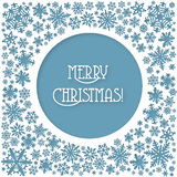 Merry Christmas  snowflakes card Stock Photos