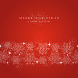 Merry Christmas snowflakes decorations elements border. Stock Photography