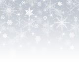 Merry Christmas - Snowflakes. On a grey background Stock Image