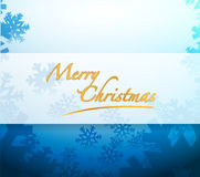 Merry Christmas snowflakes light sign Stock Image