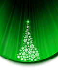 Merry Christmas with snowflakes and tree. EPS 8 Stock Photo