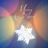 Merry Christmas snowflakes Stock Photo