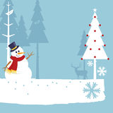 Merry christmas snowman Stock Images