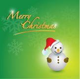 merry christmas snowman card Royalty Free Stock Photography