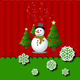 Merry christmas snowman Greeting Card Stock Photos