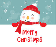 Merry Christmas, snowman Stock Images